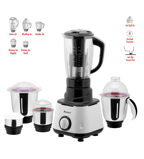 74ae8681859 Buy AnjaliMix 5 Jars 600W White Juicer Mixer Grinder (Model No ...