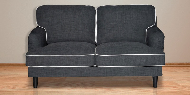 Anabel Two Seater Sofa in Ebony Grey Colour by CasaCraft