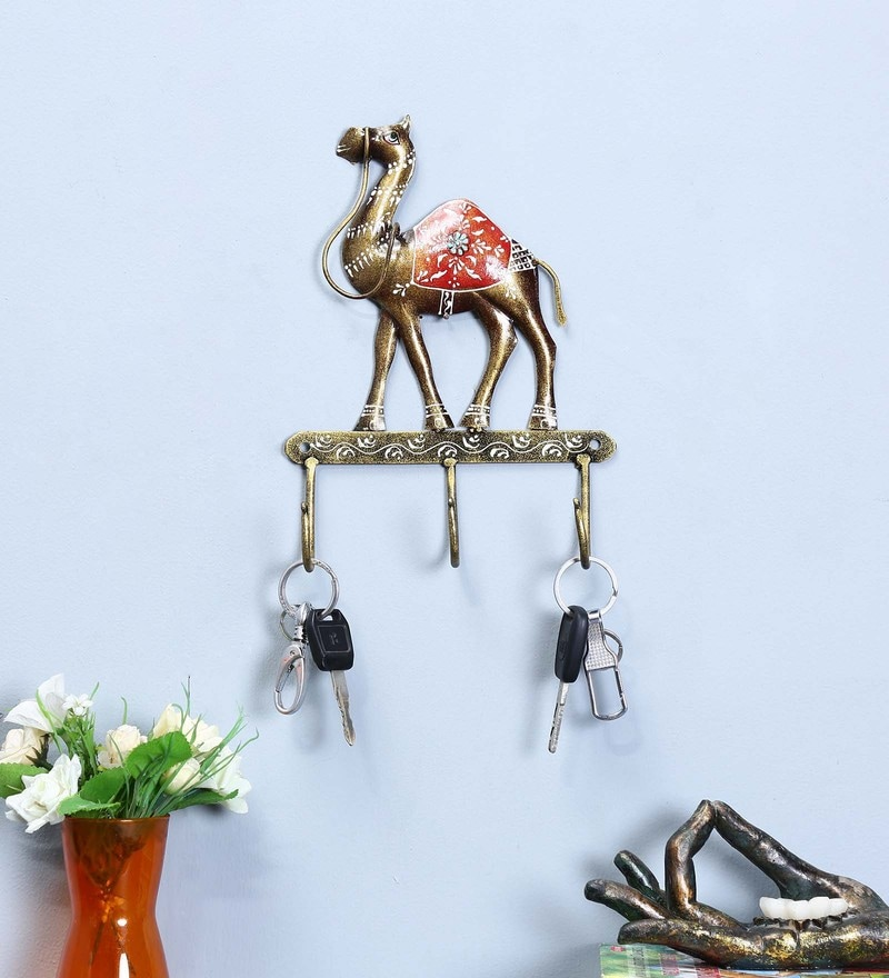 Multicolour Iron Camel Key Holder by Craftpreneurs India