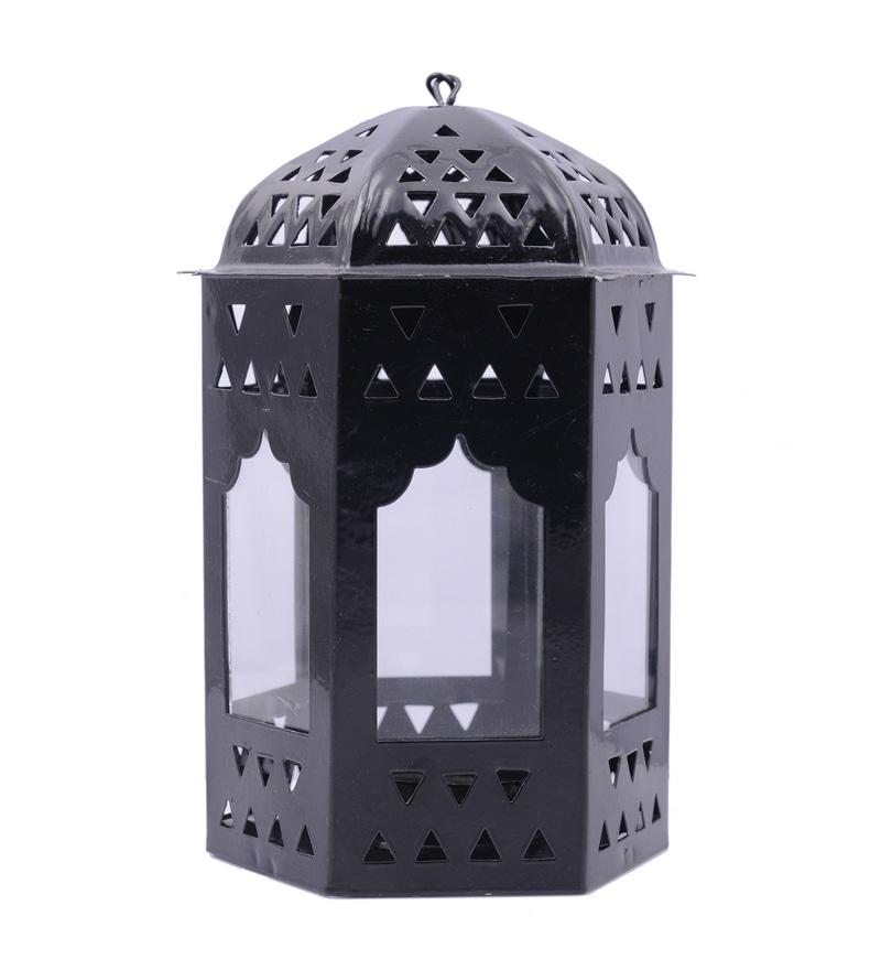 Black Metal Lantern by Anasa