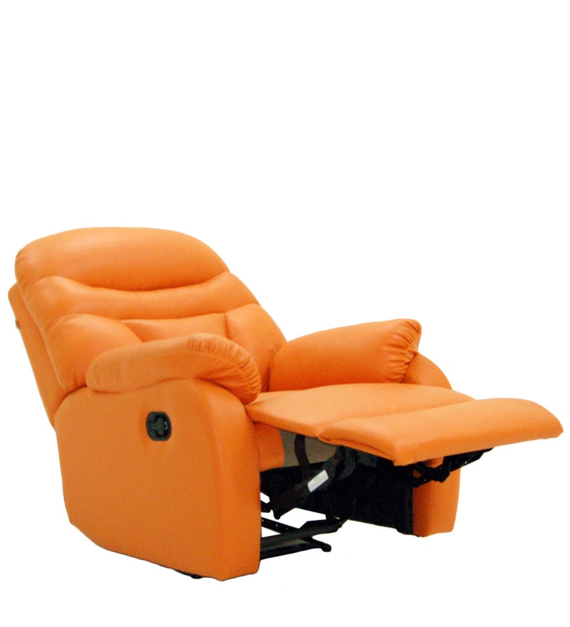 Buy Ancona One Seater Recliner Chair in Rust Colour by Furnitech Online - One Seater Recliners - Recliners - Pepperfry  sc 1 st  Pepperfry & Buy Ancona One Seater Recliner Chair in Rust Colour by Furnitech ... islam-shia.org
