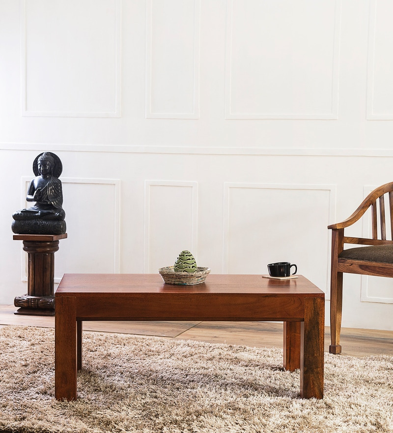Lacanoia Coffee Table In Honey Oak Finish by Woodsworth