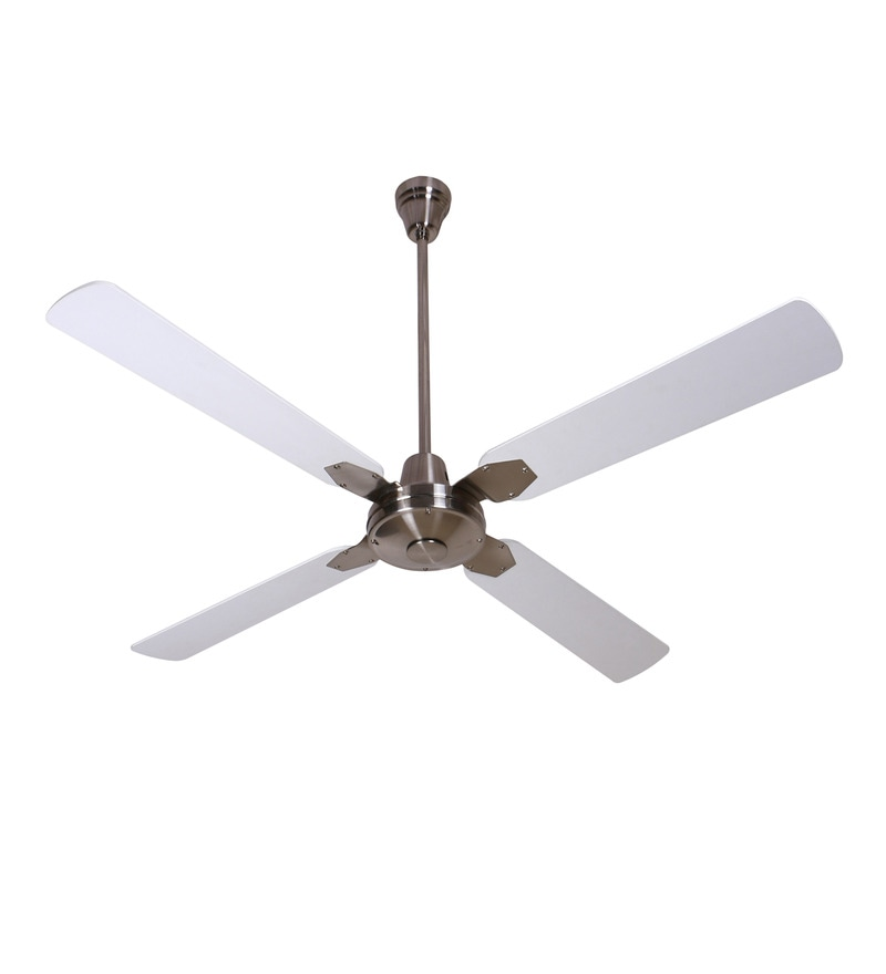 Anemos Classic Brushed Nickel White 1350 MM Designer Ceiling Fan