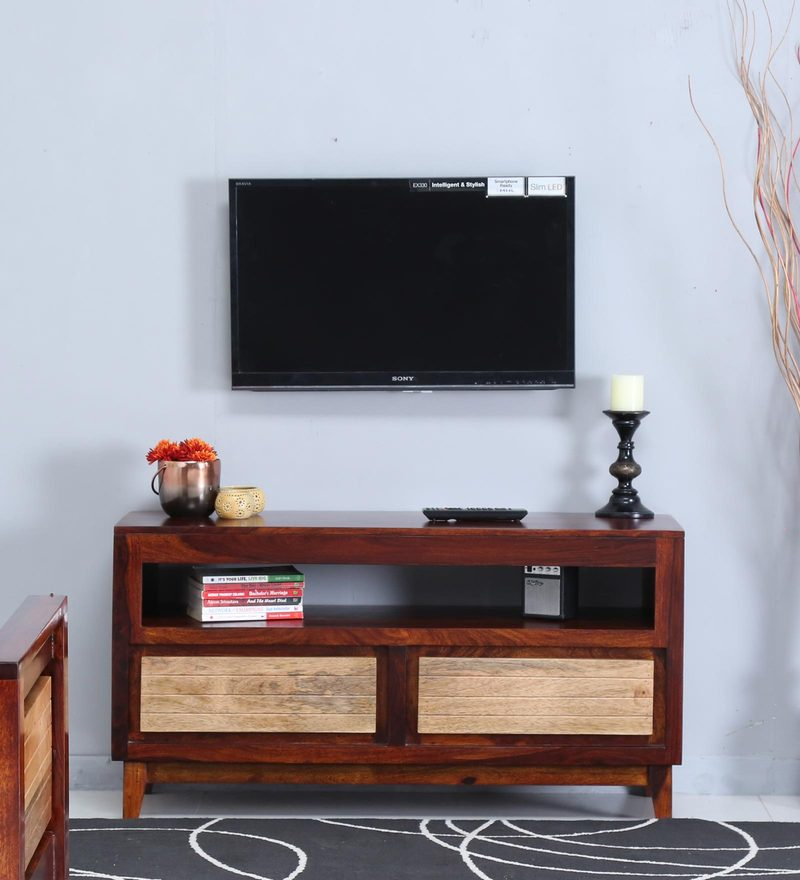 Anitz Entertainment Unit in Dual Tone Finish by Woodsworth