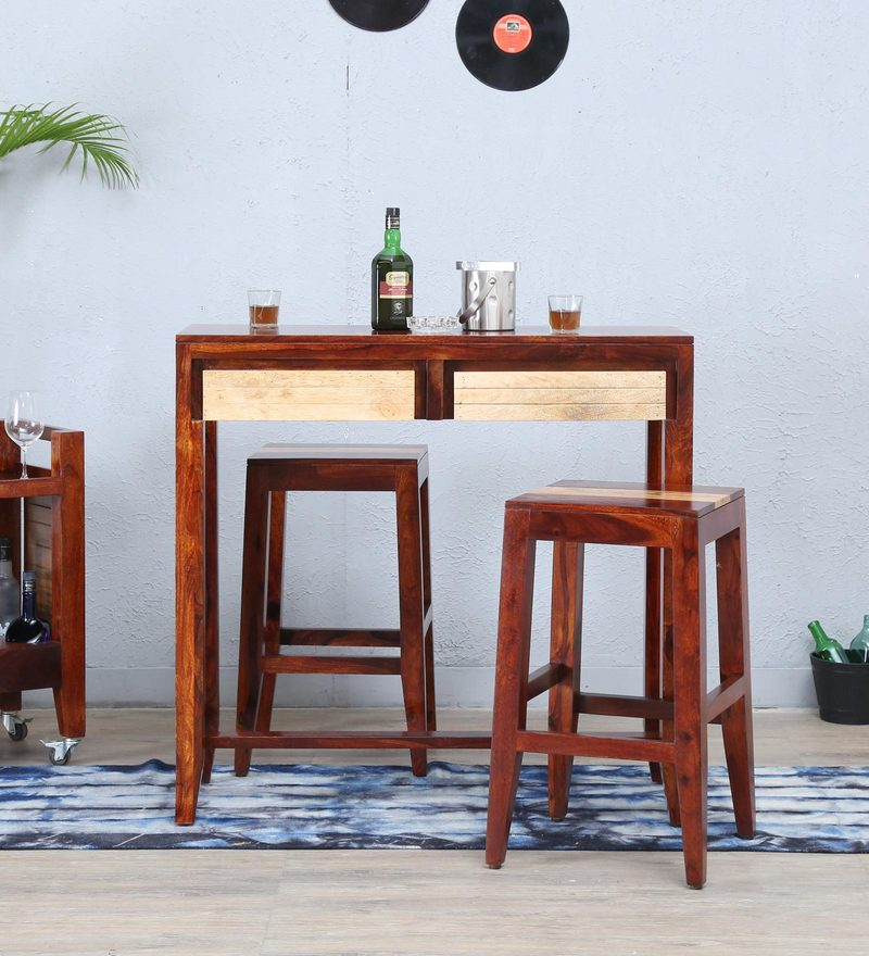 Anitz Two Seater Bar Set in Dual Tone Finish by Woodsworth
