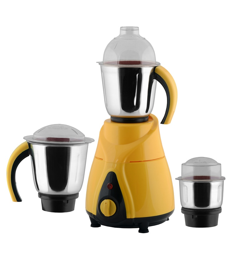 Anjalimix Spectra 1000W Yellow Mixer Grinder With 3 Jars