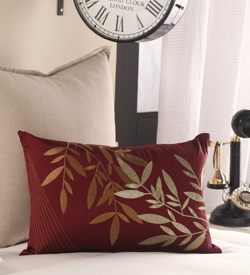 Anna Simona Copper 100% Polyester 12 x 18 Pillow Cover