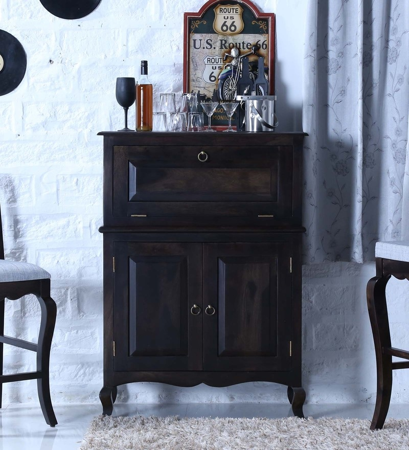 Anne Bar Cabinet in Warm Chestnut Finish by Amberville