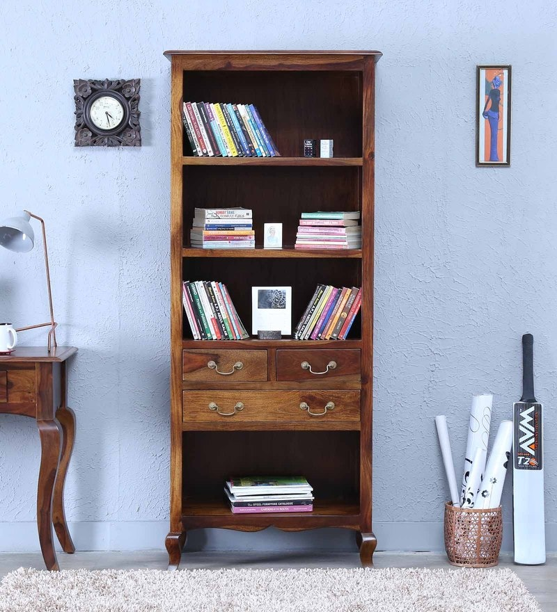 Anne Book Shelf in Provincial Teak Finish By Amberville