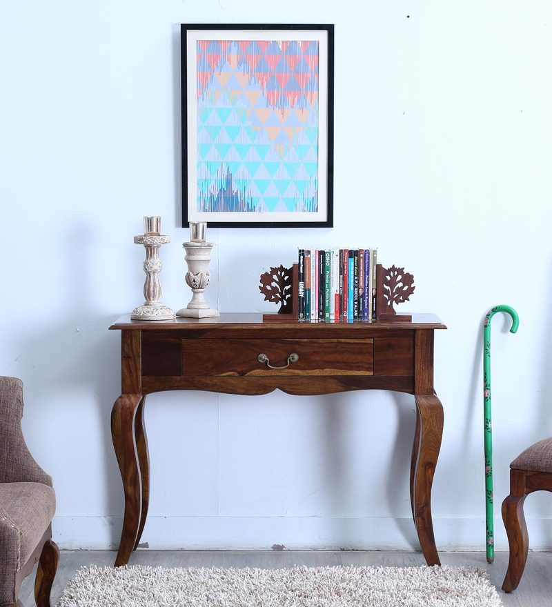 Anne Console Table in Provincial Teak Finish by Amberville