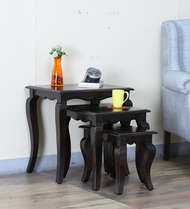 Anne Set of Tables in Warm Chestnut Finish by Amberville