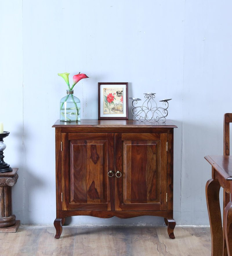 Anne Sideboard with Two Doors in Provincial Teak Finish by Amberville