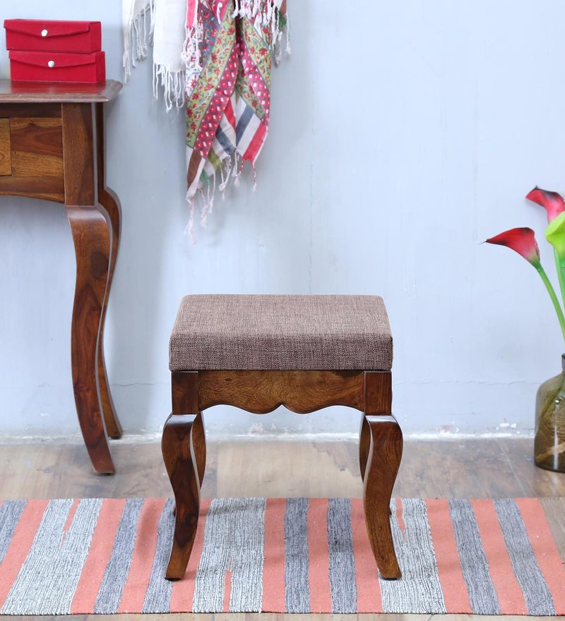 Anne Stool in Provincial Teak Finish by Amberville