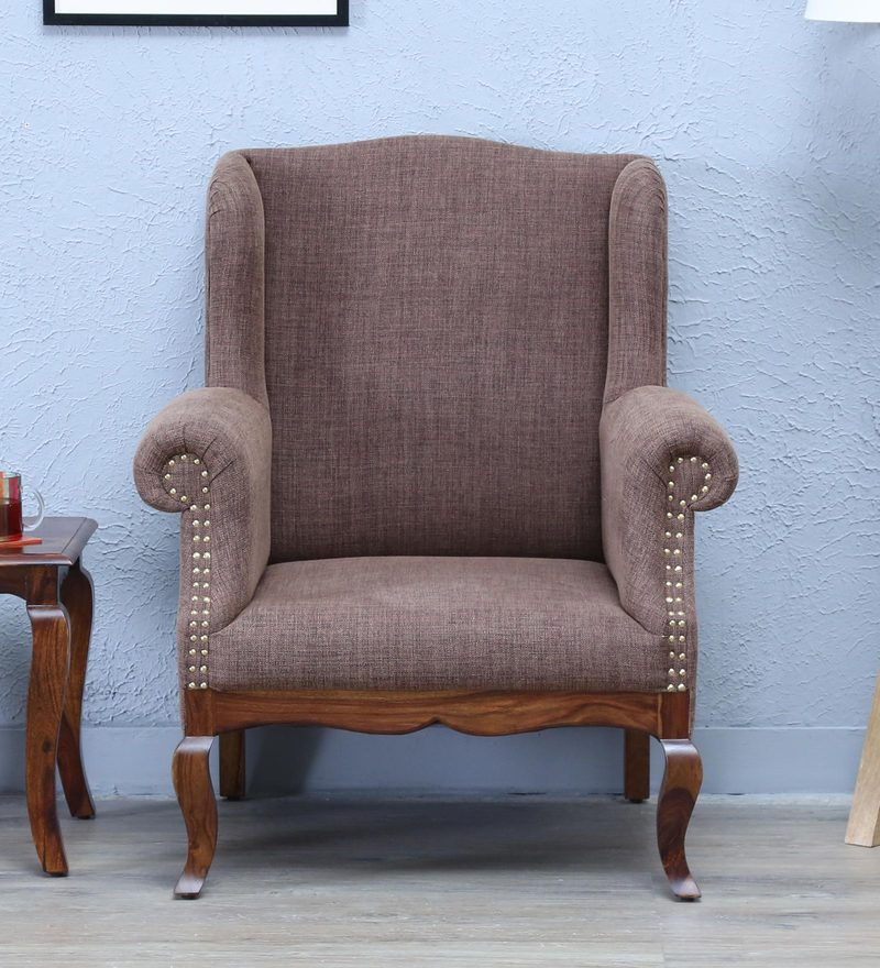 Anne Wing Chair in Provincial Teak Finish by Amberville