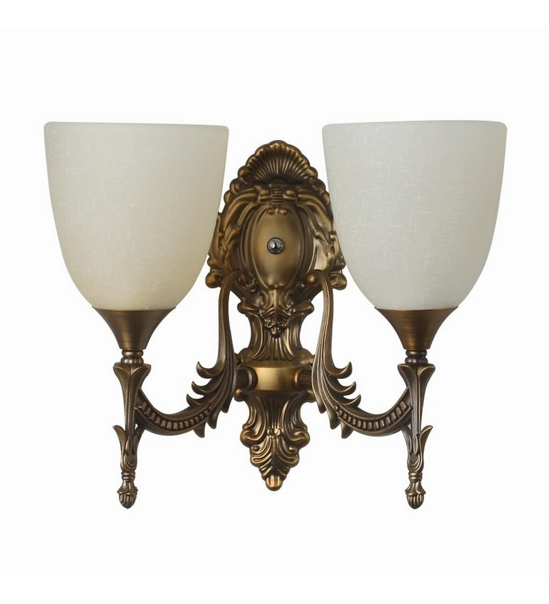 Antique Gold Aluminium Wall Light by LeArc Designer Lighting