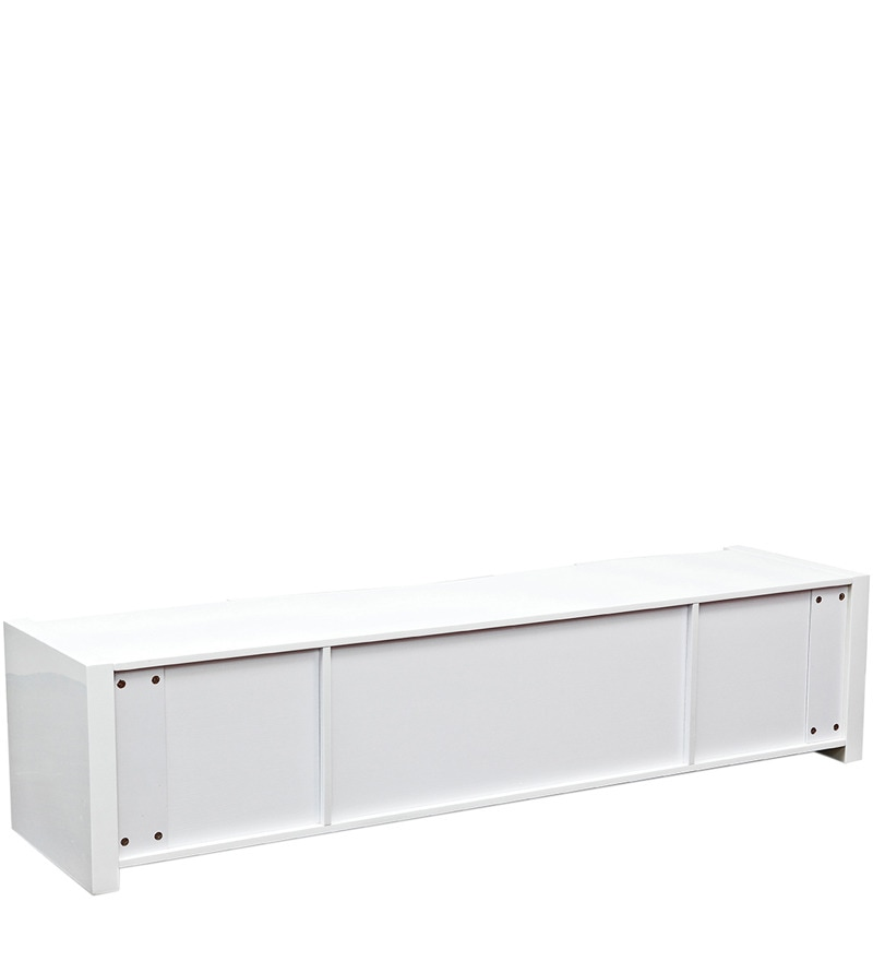 Buy Antonious High Gloss Entertainment Unit in White Finish by