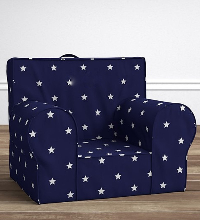 ANYWHERE Kids Sofa with Cushion in Starry Blue by My Gift Booth