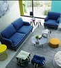 Anabel One Seater Sofa in Columbia Blue Colour by CasaCraft