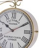Anantaran Gold Yellow Brass Railway Clock Double Side