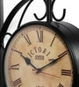 Anantaran Black Iron Vintage Station Clock Double Side Wall Clock