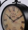 Anantaran Black Iron Replica Victoria Double Side Station Clock Wall Clock