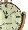 Anantaran Brown Brass Retro Table Clock
