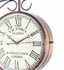 Copper Iron 10 Inch Two Sided Railway Clock by Anantaran