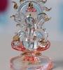Multicolour Crystal Sunring Ganesh by Anasa