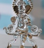 Transparent Crystal Ganesh God Idol on Singhasan by Anasa