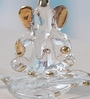 Anasa Transparent Crystal Ganesh on Leaf God Idol