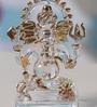 Transparent Crystal Sutra Decor Ganesha God Idol by Anasa