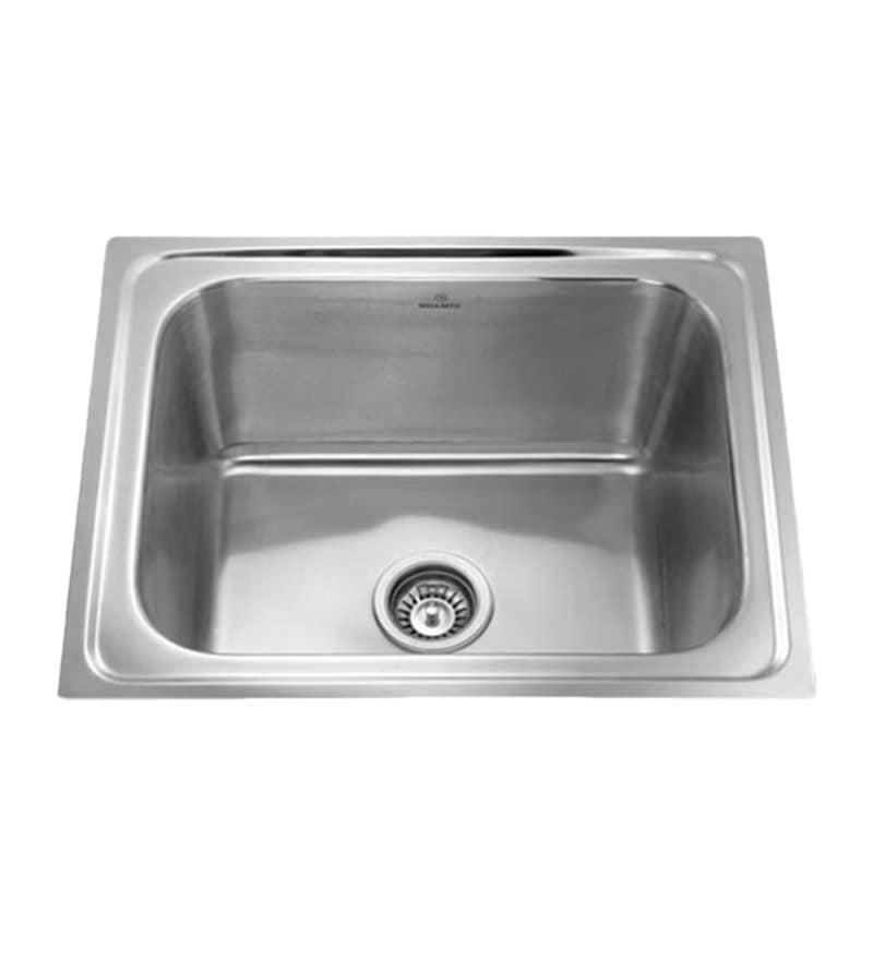 Apollo Stainless Steel Single Bowl Kitchen Sink - AS20