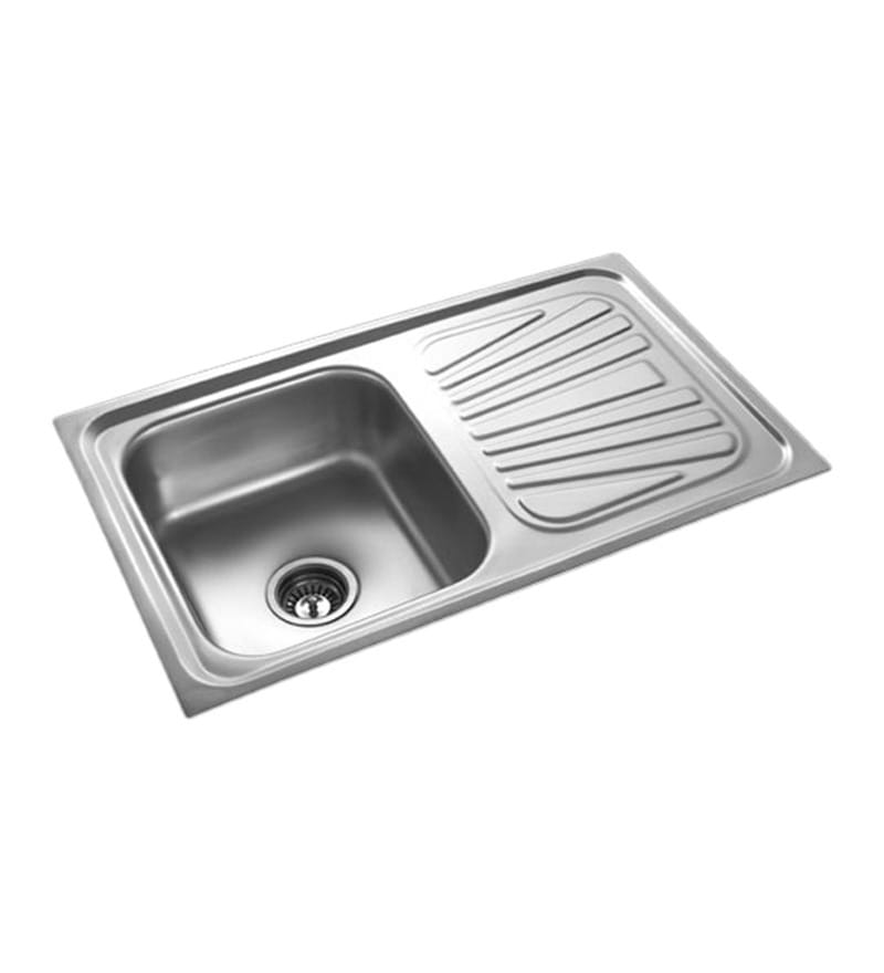 Apollo Stainless Steel Single Bowl Kitchen Sink with Drainer - AS25