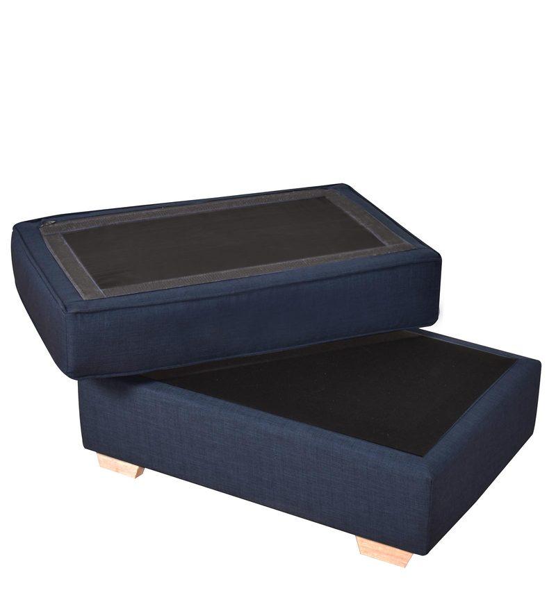 Wondrous Apollo Ottoman In Dark Blue Colour By Furny Inzonedesignstudio Interior Chair Design Inzonedesignstudiocom
