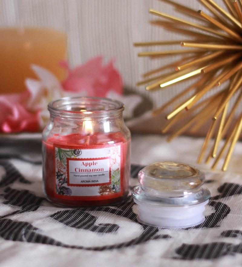 Apple Cinnamon Premium Bell Jar Candle Regular by Aroma India
