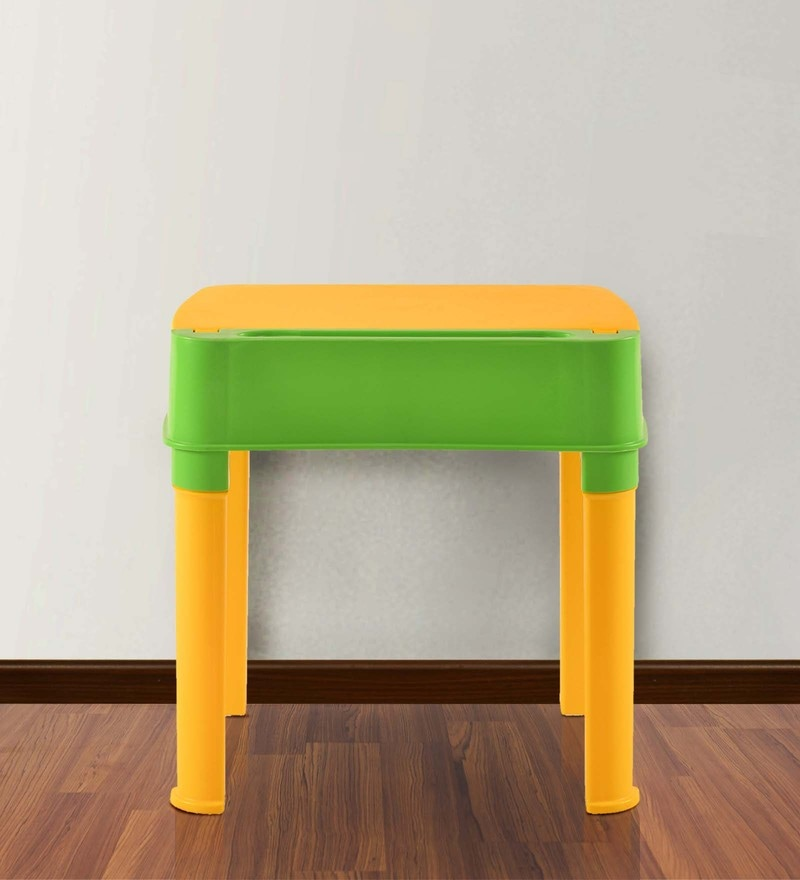 Apple Moulded Baby Desk in Yellow & Green Colour by Nilkamal
