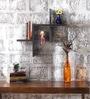 Pedro Contemporary Wall Shelf in Black by CasaCraft