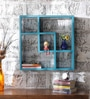 Blue Mango Wood King Cube Z Wall Shelf by Appu Art