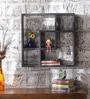 Dark Grey Mango Wood King Cube Z Wall Shelf by Appu Art