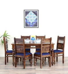 Aramika Six Seater Dining Set  In Provincial Teak Finish