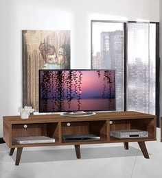 Arata Entertainment Unit With Three Slots In Oak Finish