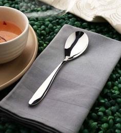 Sanjeev Kapoor Arc Dessert Spoons Silver Premium Stainless Steel - Set Of 6