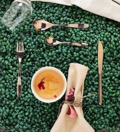 Sanjeev Kapoor Arc Rose Gold Titanium Premium Stainless Steel Cutlery - Set Of 24