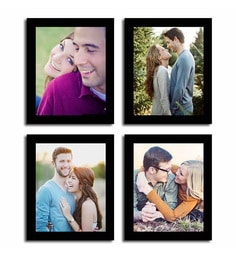 Art Street Black Fibre Wood Individual Photo Frame - Set of 4 at pepperfry