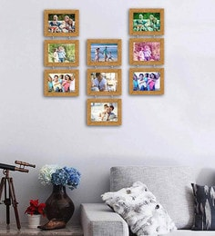 Art Street Synthetic Wood 31 X 29 Chain Drop Photo Frame - Set Of 9