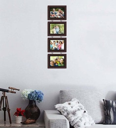 Art Street Synthetic Wood 31 X 9 Pearl Drop Photo Frame  - Set Of 4 - 1605942