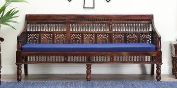 Aramika Three Seater Sofa In Provincial Teak Finish