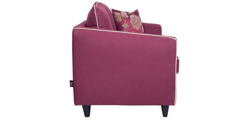 Buy Argos Two Seater Sofa With Throw Cushions In Grape