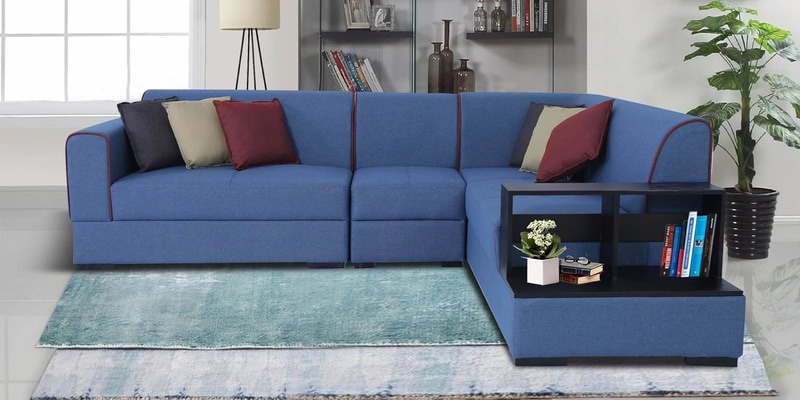 Buy Arwin Lhs Sofa With Lounger In Sea Green Colour By Peachtree