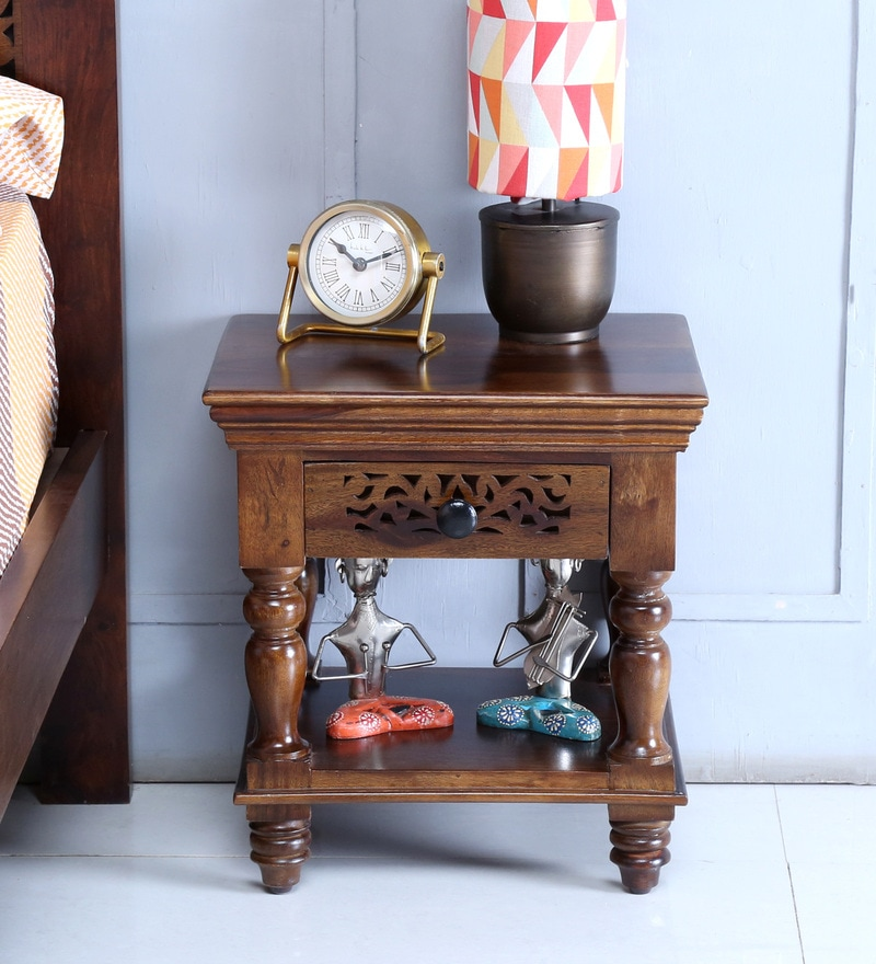 Aramika Bedside Table in Provincial Teak Finish by Mudramark